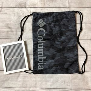 Columbia Camo Camouflage Drawstring Backpack Bag